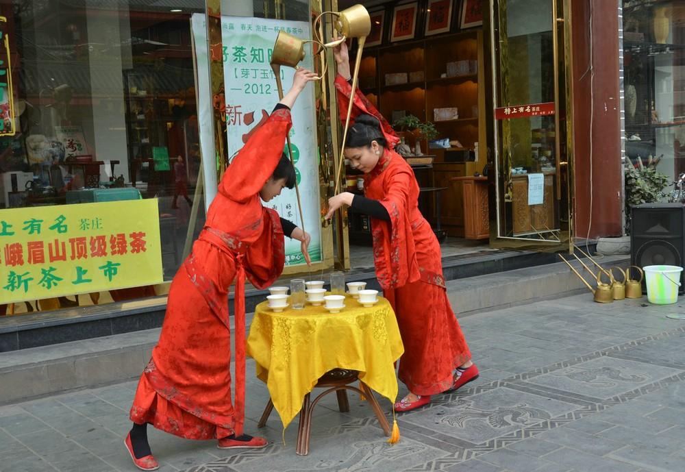 מזיגת תה בסין
